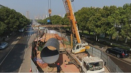 湖南长沙旺旺中路片区新增排水管道工程—3PE防腐螺旋钢管