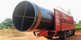 3PE防腐螺旋钢管怎么运输?怎样保证防腐层不破损?